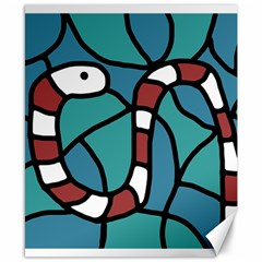 Red snake Canvas 8  x 10