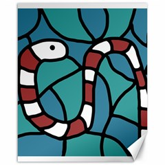 Red snake Canvas 16  x 20