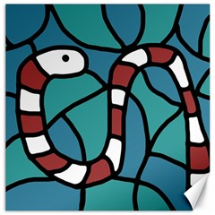 Red snake Canvas 20  x 20