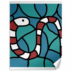 Red snake Canvas 36  x 48