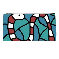 Red snake Pencil Cases