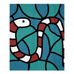 Red snake Shower Curtain 60  x 72  (Medium)