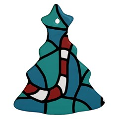 Red snake Christmas Tree Ornament (2 Sides)