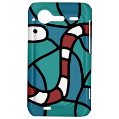 Red snake HTC Incredible S Hardshell Case