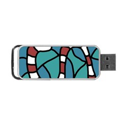 Red snake Portable USB Flash (One Side)
