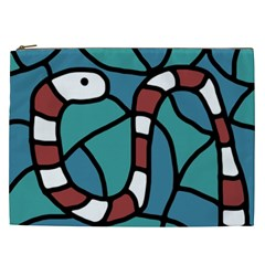 Red snake Cosmetic Bag (XXL)