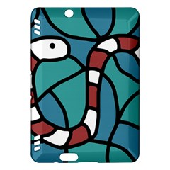 Red snake Kindle Fire HDX Hardshell Case
