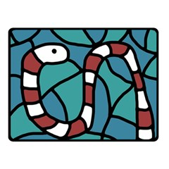 Red snake Double Sided Fleece Blanket (Small)