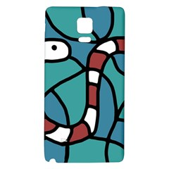 Red snake Galaxy Note 4 Back Case