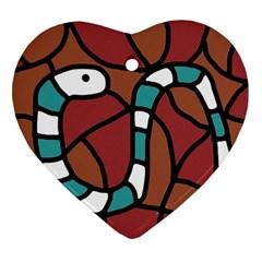 Blue snake Ornament (Heart)