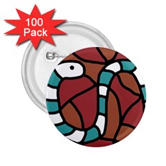 Blue snake 2.25  Buttons (100 pack)