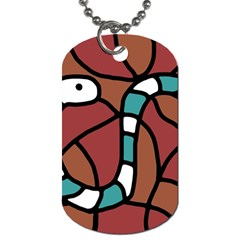 Blue snake Dog Tag (Two Sides)