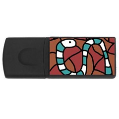 Blue snake USB Flash Drive Rectangular (1 GB)
