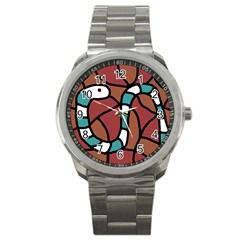 Blue snake Sport Metal Watch