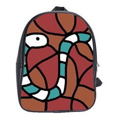 Blue snake School Bags(Large)