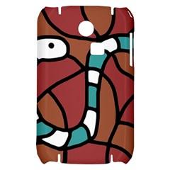Blue snake Samsung S3350 Hardshell Case
