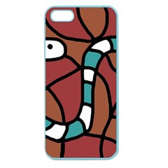 Blue snake Apple Seamless iPhone 5 Case (Color)