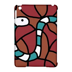 Blue snake Apple iPad Mini Hardshell Case (Compatible with Smart Cover)