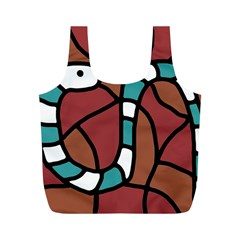Blue snake Full Print Recycle Bags (M)