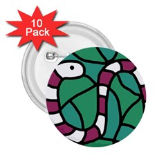 Purple snake  2.25  Buttons (10 pack)