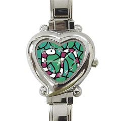 Purple snake  Heart Italian Charm Watch