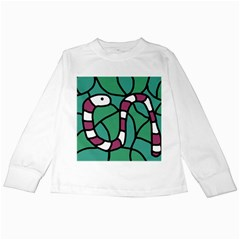 Purple snake  Kids Long Sleeve T-Shirts