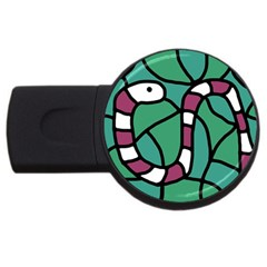 Purple snake  USB Flash Drive Round (4 GB)