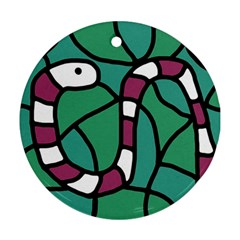 Purple snake  Round Ornament (Two Sides)