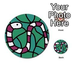 Purple snake  Multi-purpose Cards (Round)