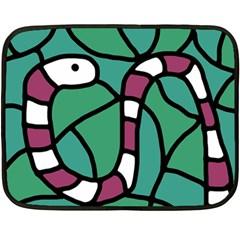 Purple snake  Double Sided Fleece Blanket (Mini)