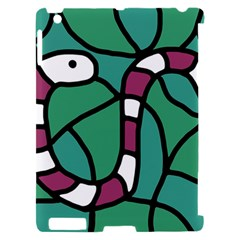 Purple snake  Apple iPad 2 Hardshell Case (Compatible with Smart Cover)
