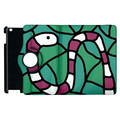 Purple snake  Apple iPad 3/4 Flip 360 Case