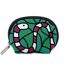 Purple snake  Accessory Pouches (Small)