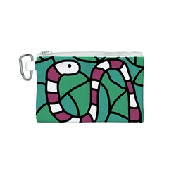 Purple snake  Canvas Cosmetic Bag (S)
