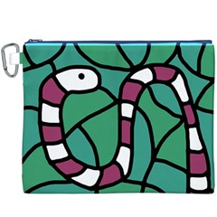 Purple snake  Canvas Cosmetic Bag (XXXL)