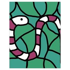 Purple snake  Drawstring Bag (Large)