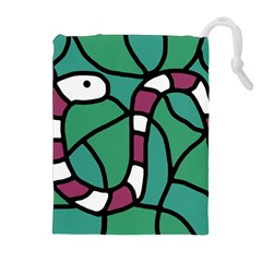 Purple snake  Drawstring Pouches (Extra Large)