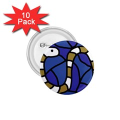 Green snake 1.75  Buttons (10 pack)