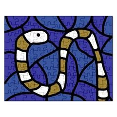 Green snake Rectangular Jigsaw Puzzl