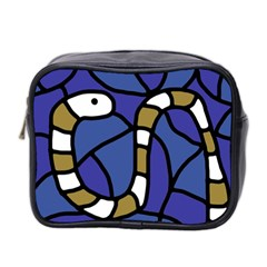 Green snake Mini Toiletries Bag 2-Side