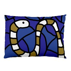 Green snake Pillow Case (Two Sides)