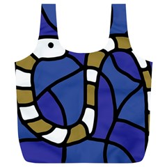 Green snake Full Print Recycle Bags (L)
