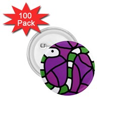 Green snake 1.75  Buttons (100 pack)