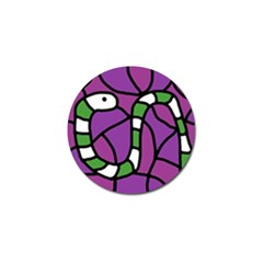 Green snake Golf Ball Marker