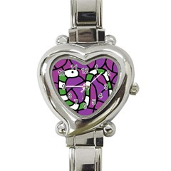 Green snake Heart Italian Charm Watch
