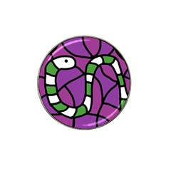Green snake Hat Clip Ball Marker (4 pack)
