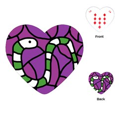 Green snake Playing Cards (Heart)