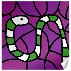 Green snake Canvas 16  x 16