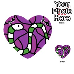 Green snake Playing Cards 54 (Heart)