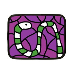 Green snake Netbook Case (Small)